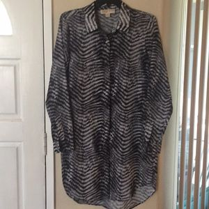 Michael Kors ladies L/S tunic top/dress EUC SZ 4